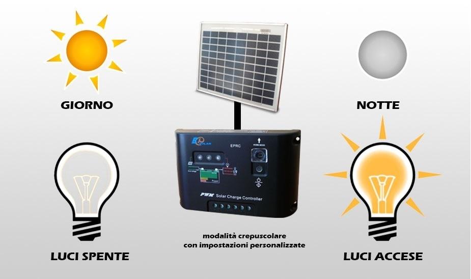 Kit per illuminazione solare fotovoltaica per esterno w compra